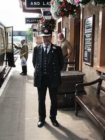 2005 - Williton Station Master Chris van den Arend on 18 August. This work is licenced under a Creative Commons Licence. © Fotophile69