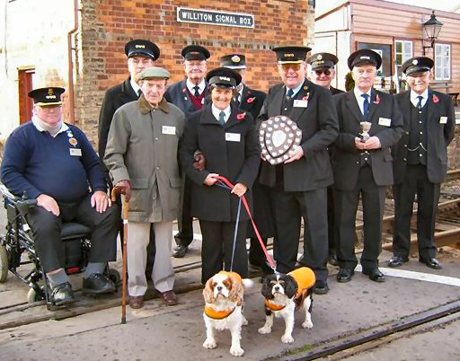 2006 - A collection of Railway Staff at Williton for the presentation of the award for the Best Kept Station 2006 in November. This work is licenced under a Creative Commons Licence. © Norman Hawkes
