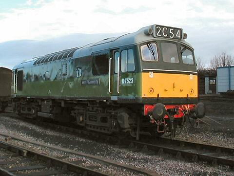 2006 - Class 25 No. D7523 at Williton on 15 January. This work is licenced under a Creative Commons Licence. © Jon Tooke