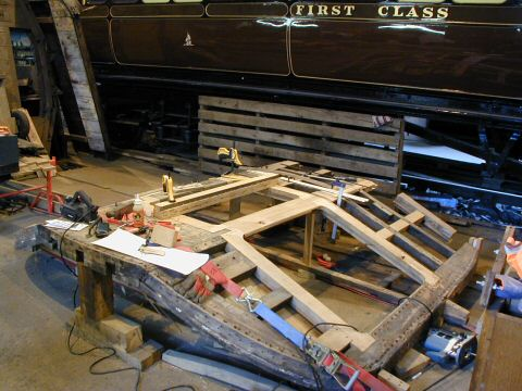 2006 - Construction of the front end of Auto Trailer No. 169 at Williton on 7 October. This work is licenced under a Creative Commons Licence. © Chris Osment