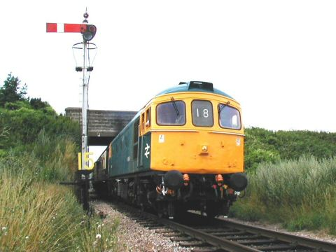 2006 - Crompton D6566 at Williton Bridge on 23 July. This work is licenced under a Creative Commons Licence. © Jon Tooke