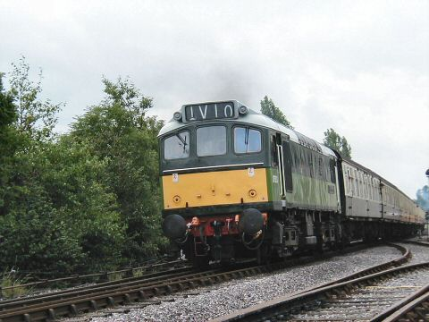 2006 - D7523 heads away from Williton on 19 August. This work is licenced under a Creative Commons Licence. © Jon Tooke