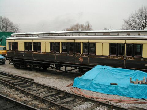 2006 - The superbly restored GWR Sleeping Car No. 9038 in Williton Yard on 11 March. This work is licenced under a Creative Commons Licence. © George Troake