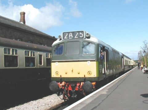 2006 - WSR30 - BR Class 25 No. D7523 at Williton on 1 May. This work is licenced under a Creative Commons Licence. © Jon Tooke