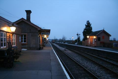 2006 - Williton Station at dusk on 2 February. This work is licenced under a Creative Commons Licence. © Martin Bodman