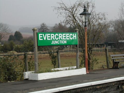 2006 - Williton becomes Evercreech Junction on 15 March. This work is licenced under a Creative Commons Licence. © Wilf Small