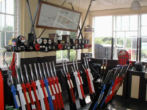 2007 - A good shot of the interior of Williton Signal Box on 9 June. This work is licenced under a Creative Commons Licence. © Chris Osment