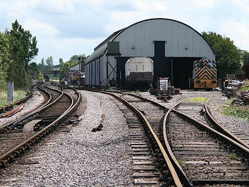 2007 - A view of Williton from the north showing the Swindon Shed on the right - pictured on 24 July. This work is licenced under a Creative Commons Licence. © Martin Bodman