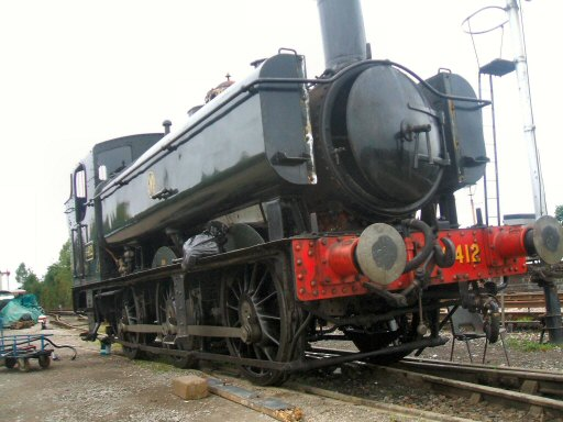 2007 - Back home for heavy overhaul, GWR 0-6-0PT no 6412 at Williton on 6 October. This work is licenced under a Creative Commons Licence. © Timothy Cook