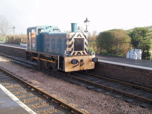 2007 - Class 03 shunter No. 03113 at Williton about to set off for Bishops Lydeard on 3 March. This work is licenced under a Creative Commons Licence. © Ian Coleby