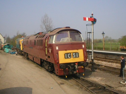 2007 - Class 52 No. D1010 Western Campaigner at Williton on 14 April. This work is licenced under a Creative Commons Licence. © Thomas Gulliford