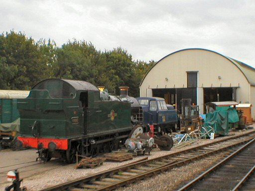 2007 - GWR 0-6-2T No. 6695 at Williton on 29 September. This work is licenced under a Creative Commons Licence. © Thomas Gulliford