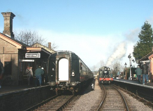 2007 - GWR 2-6-2T No. 5553 at Williton during the Winter Steam Festival on 29 December. This work is licenced under a Creative Commons Licence. © Peter Darke