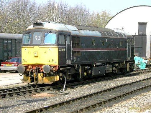 2007 - Class 33 No. 33202 at Williton on 8 April. This work is licenced under a Creative Commons Licence. © Ian Monkton