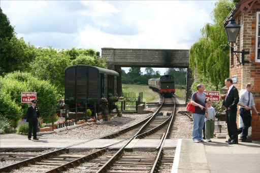 2007 - GWR 2-6-2T No. 5553 waits outside Williton Station on 16 June. This work is licenced under a Creative Commons Licence. © Malc Stacey