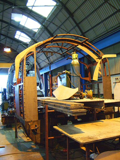 2007 - Progress on the cab of SR 4-6-2 No.34046 Braunton at Williton on 24 March. This work is licenced under a Creative Commons Licence. © Ian Grady