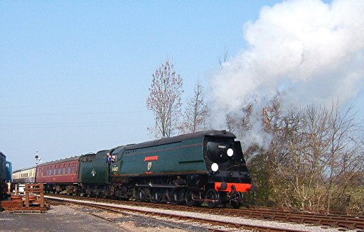 2007 - SR 4-6-2 No. 34007 Wadebridge with a special working at Williton on 28 March. This work is licenced under a Creative Commons Licence. © Ian Grady