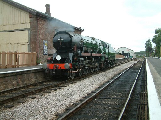 2007 - SR 4-6-2 No. 34046 Braunton at Williton Station before its first run under steam since October 1965 - seen on 19 August. This work is licenced under a Creative Commons Licence. © Mike Johns