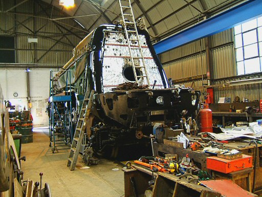2007 - SR 4-6-2 No. 34046 Braunton at Williton Works on 2 June. This work is licenced under a Creative Commons Licence. © Ian Grady