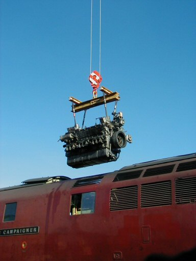 2007 - The B end engine from Class 52 No. D1010 is airborne at Williton on 3 November. This work is licenced under a Creative Commons Licence. © Jon Tooke