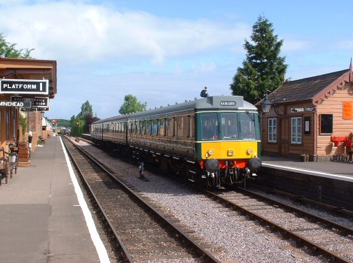 2007 - The Class 117 DMU pauses at Williton with a special working to Norton Fitzwarren on 19 May. This work is licenced under a Creative Commons Licence. © Andy Spencer