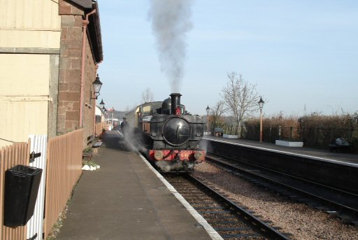 2007 - The Heritage Railway Association Special prepares to leave Williton behind GWR 0-6-0PT No. 6412 on 4 February. This work is licenced under a Creative Commons Licence. © Clive Townshend