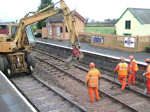 2007 - The PW Gang at work at Williton Station on 26 January. This work is licenced under a Creative Commons Licence. © Martin Southwood