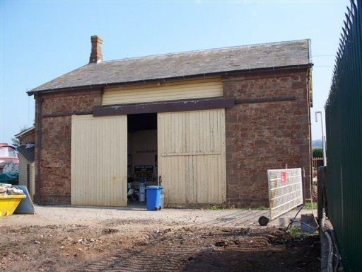 2008 - A view of Williton Goods Shed now briefly possible during the removal of the former mess room and its new replacement - seen on 20 September. This work is licenced under a Creative Commons Licence. © Jon Tooke