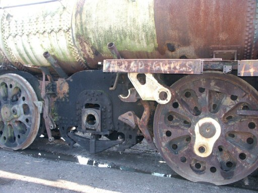 2008 - Another view of SR 4-6-2 No. 35011 now minus the driving wheelset seen at Williton on 4 February. This work is licenced under a Creative Commons Licence. © Peter Darke