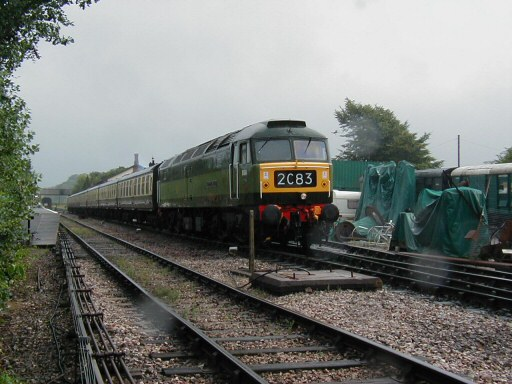 2008 - BR Class 47 No. D1661 North Star at Williton on 16 August. This work is licenced under a Creative Commons Licence. © Jon Tooke