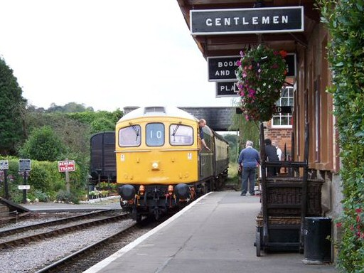 2008 - Class 33 No. D6566 arriving at Williton with a DEPG Driver Training Special seen on 19 October. This work is licenced under a Creative Commons Licence. © Jon Tooke