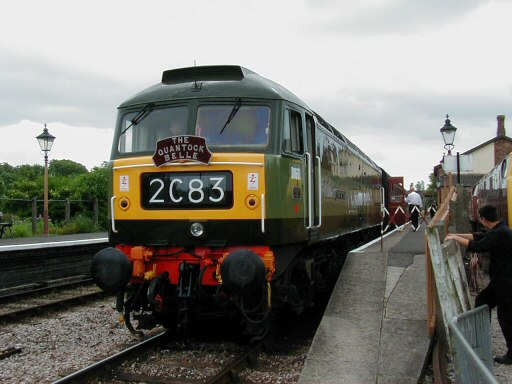 2008 - Class 47 No. D1661 North Star at WIlliton with the Shareholders Special on 28 June. This work is licenced under a Creative Commons Licence. © Jon Tooke
