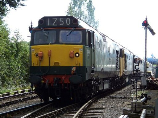 2008 - Class 50s Nos. D444 and 50049 leaving Williton with the special from Manchester on 18 October. This work is licenced under a Creative Commons Licence. © Jon Tooke