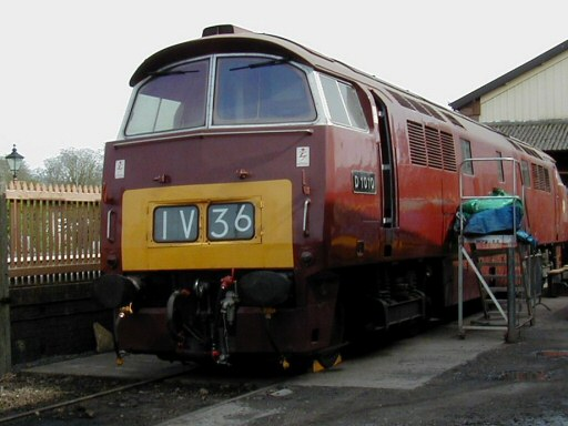 2008 - Class 52 D1010 Western Campaigner at Williton on 26 April. This work is licenced under a Creative Commons Licence. © Jon Tooke