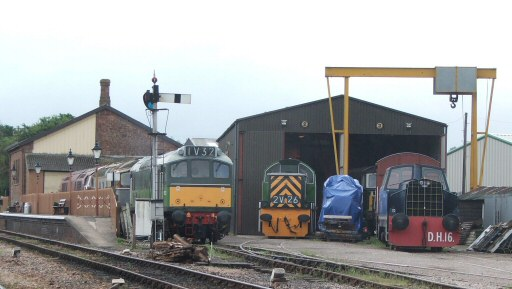 2008 - Diesel panorama at Williton South Yard on 16 August. This work is licenced under a Creative Commons Licence. © Fotophile69