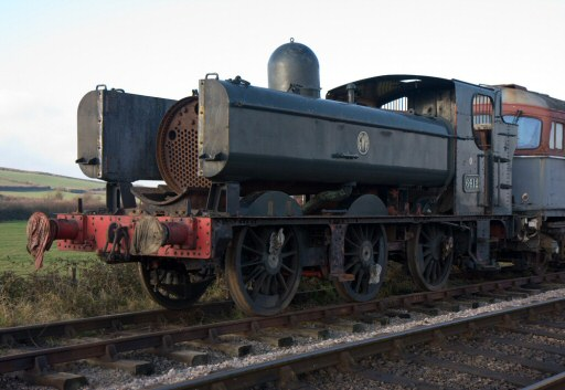 2008 - GWR 0-6-0PT No. 6412 at Williton on 28 December. This work is licenced under a Creative Commons Licence. © Mike Dunse