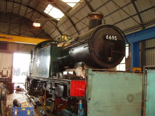 2008 - GWR 0-6-2T No. 6695 at Williton on 6 July. This work is licenced under a Creative Commons Licence. © Malcolm Anderson
