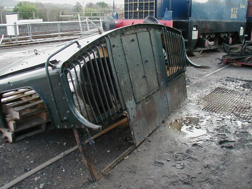 2008 - Part of the cab of GWR 0-6-0PT No. 6412 at Williton on 26 January. This work is licenced under a Creative Commons Licence. © Jon Tooke