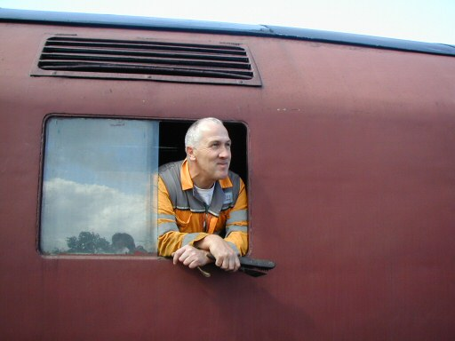 2008 - Regular WSR volunteer and website contributor, Jon Tooke, takes a breather at WIlliton on 2 August. This work is licenced under a Creative Commons Licence. © Chris Osment