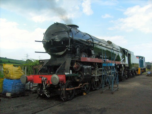 2008 - SR 4-6-2 No. 34046 Braunton in steam again at Williton North Yard on 28 July. This work is licenced under a Creative Commons Licence. © James Auton