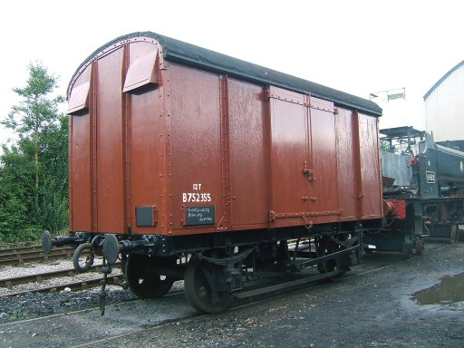 2008 - SR Box Van No. 752355 owned and refurbished by members of Loco 5542 awaiting final examination at Willton prior to joining the WSR Heritage Goods Train - seen in late August. This work is licenced under a Creative Commons Licence. © Ian Grady