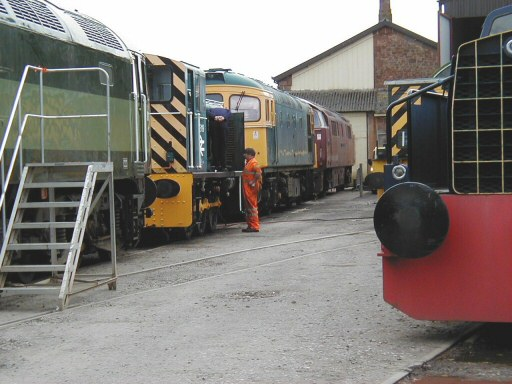 2008 - Six diesel locomotives - Nos. D1661, 03119, D6566, D1010, D9526 and DH16 - are visible in this scene at WIlliton on 3 May. This work is licenced under a Creative Commons Licence. © Jon Tooke