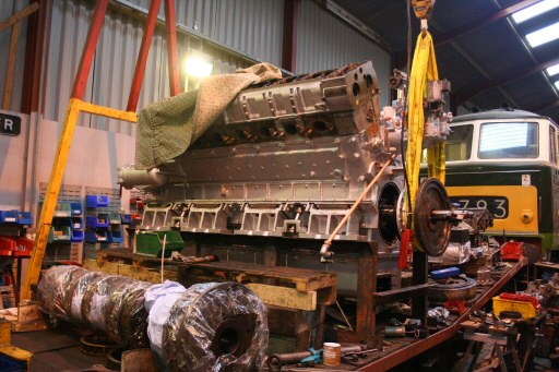 2008 - The Maybach MD655 being worked on at Williton Diesel Works on 26 January. This work is licenced under a Creative Commons Licence. © Peter Nicholson