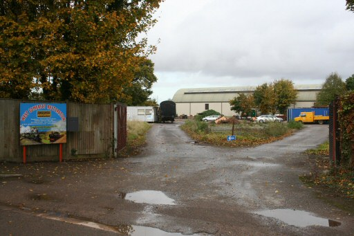 2008 - The entrance to the newly-acquired yard at Williton on 26 October. This work is licenced under a Creative Commons Licence. © Peter Nicholson