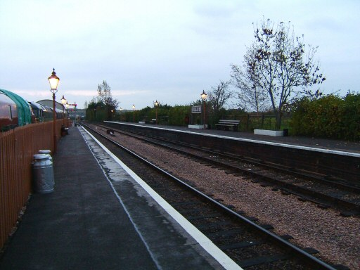 2008 - Williton waits for the last trains of the main season as the platform lamps glow at dusk on 9 November. This work is licenced under a Creative Commons Licence. © Ian Grady