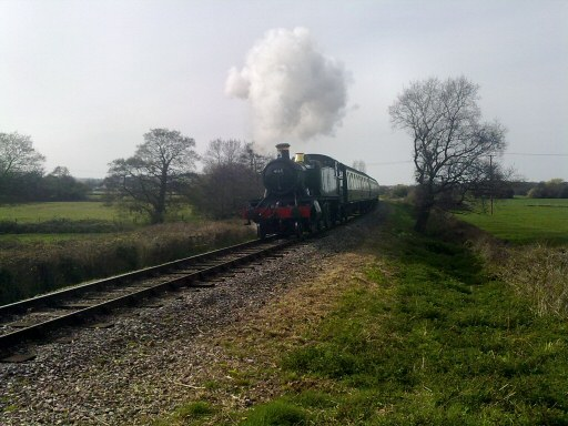 2010 - BR(W) 2-6-2T No. 4160 at Teddy Bear Crossing, Williton near Castle Hill on 21 April. This work is licenced under a Creative Commons Licence. © Aaron Manley