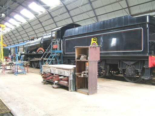 2010 - BR(W) 4-6-0 No. 7821 Ditcheat Manor is prepared for Gala visitors to the Willliton Works. Pictured on 19 March. This work is licenced under a Creative Commons Licence. © Ian Grady