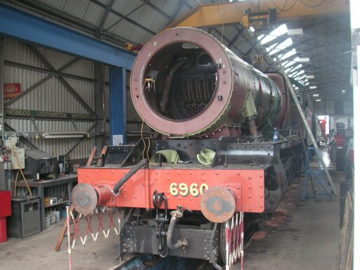 2010 - Cladding trial fitting is almost complete - GWR 4-6-0 No. 6960 Raveningham Hall at Williton on 13 July. This work is licenced under a Creative Commons Licence. © Steve Johns