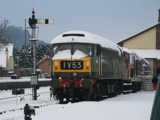2010 - Class 47 No. D1661 North Star at Williton on 22 December with nos D7017, D9526 and D1010 behind. This work is licenced under a Creative Commons Licence. © Mike Collins