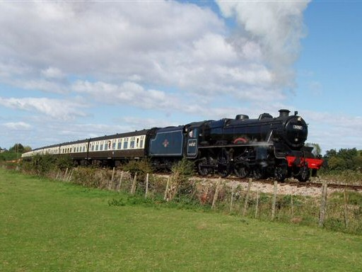 2010 - LMS 4-6-0 No. 44767 George Stephenson near Williton Bridge on 26 September. This work is licenced under a Creative Commons Licence. © Malcolm Anderson